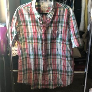 Saint johns bay short sleeve button down shirt.